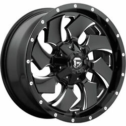 4- 20x10 Black Milled Fuel Cleaver D574 6x135 And 6x5.5 -18 Rims 35x12.5x20 Tires