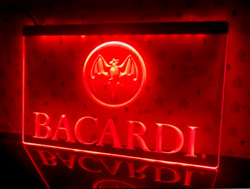 Bacardi Led Neon Sign Light Bar Pub Beer Rum Whiskey Draught Quality Signboard