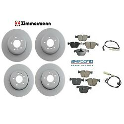 Front And Rear Brake Kit Disc Rotors And Pad Set With Sensors For Bmw E60 5-series