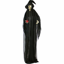 Animatronic Witch Halloween Decoration Haunted Hill Farm Life-size Prop