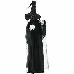 Haunted Hill Farm Life-size Animated Wicked Witch Prop Halloween Decoration