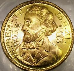 1856 J C Freemont Campaign Token Eagle On Globe Our Country