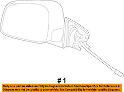 Jeep Chrysler Oem Outside Mirrors-front Door-power Mirror Right 5sg35ht6ab