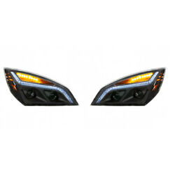Blackout Led Projection Headlight For 2018+ Freightliner Cascadia - Set