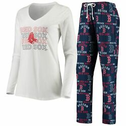 Boston Red Sox Concepts Sport Women's Flagship Long Sleeve V-neck T-shirt And