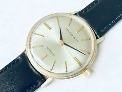 Rare.luxury Mens Tiffanyandco.14k Solid Gold.automatic Watch.orig-dial.new Crystal