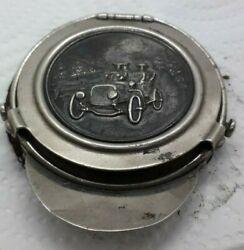 Old Travel Inkwell Automovilia With An Engraved Car Unknown Branded 58mm