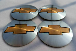 4pc 56mm 2.2 Auto Car Wheel Center Cap Emblem Decal Sticker For Chevy Silvery