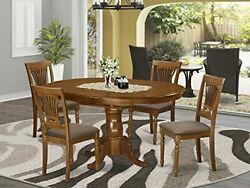 5 Pc Set Portland Dining Table Having 18 Leaf And 4 Cushiad Kitchen Chairs I...