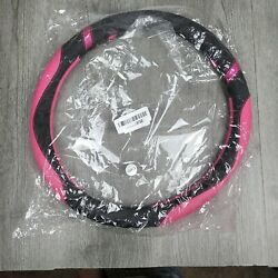 Cxtiy Universal Leather Steering Wheel Cover For Car 15 Inches Rose Color