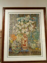John Powell Serigraph White Poppies Signed By Artist And Numbered 238/300.andnbsp