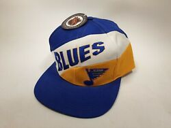 Nhl St Louis Blues Snapback Hat Cap Logo 7 Embroidered Spellout New W Tags