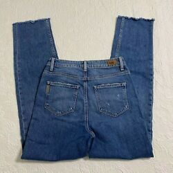 Paige Jeans Womens High Rise Sarah Straight Size 28 Distressed Blue 1783