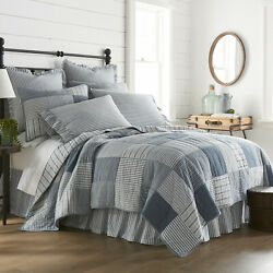 Sawyer Mill Blue Farmhouse Quilted Bedding - Create A Bundle - Save At Checkout