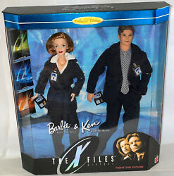 1998 Barbie And Ken As Dana Scully And Fox Mulder The X Files Doll Gift Set 19630