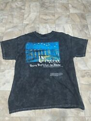Rare Vintage Vincent Van Gogh Starry Night Over The Rhone T Shirt
