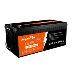 Ampere Time 12v 200ah Plus Lifepo4 Lithium Battery With 200a Bms For Motor Homes