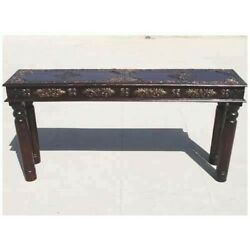 Antique Accent Work Hall Entry Way Console Sofa Table 150xx40x75