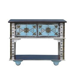 Mattodan Hand Carved Traditional Solid Wood Console Table 115x40x90