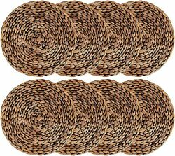 New Woven Placemats Round Set Of 8 Decorative Easy Cleaning 100 Handmade 11.8