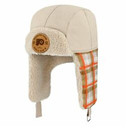 Philadelphia Flyers Fanatics Branded Outdoor Play Plaid Trapper Hat - Natural