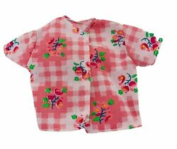 BARBIE DOLL CLOTHES Over TOP JACKET Pink Check Floral Genuine Barbie Fashion $3.98