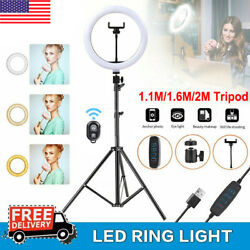 Led Selfie Ring Light Kit With Tripod Stand Phone Holder For Makeup Live Stream