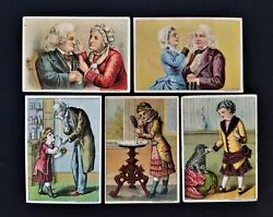 Lot 1880 Antique 5pc Dr Isaac Thompson Eye Water Med Victorian Trade Card Set