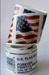 1 Rolls 2017 American Flag Postage 100 Usps Forever Us Free Shipping