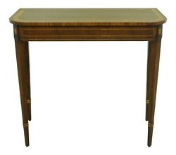 33073ec English Inlaid Mahogany Federal Style Console Table