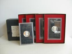 Vtg 1971 S Eisenhower Proof Silver Dollar Lot Of 5 Coins 40 In Mailing Box