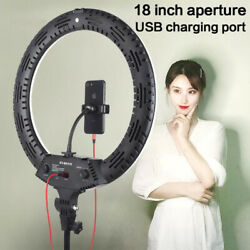18 Led Selfie Ring Light With Tripod Phone Holder Stand For Makeup Live Stream