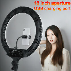18 Led Ring Light Selfie Tripod Stand Kit Dimmable 5500k For Phone Video Makeup