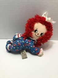 Vintage Applause 15154 Baby Raggedy Ann Crawling Doll In Pajamas