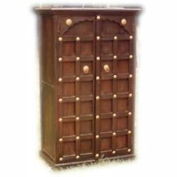 Brass Work Solid Wood Antique Style Almirah Pantry Cupboard Cabinetmadetoorder