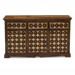 Made To Order Mogra Antique Brass Work Solid Wood Brass Sideboard D 140x40x80