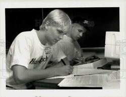 1990 Press Photo Westfield High School Students In Computer Programming Contest