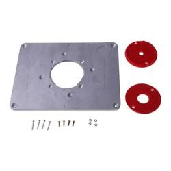 Aluminum Router Table Insert Plate Trimmer Engraving Machine Woodworking Bench