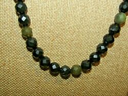 Jay King Drt .925 Sterling Silver Black And Green Agate Faceted Bead Necklace
