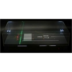 Jc Wings 1/400 1/500 Aircraft Runway Display Box With Lights- 07r  Brand New