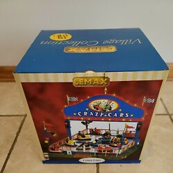 Lemax Crazy Cars Carnival Ride 2006 Animated Lighted Retired Rare Nib Box