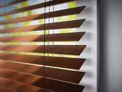 Brand New Custom Made 2 Inch Faux Wood Blinds 37'' Long X 57 Wide Classic Pecan