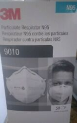3m 9010 N95 Niosh Approved Respirator Disposable Face Mask Cover -50 Masks
