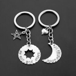 Couple Keychain Movie Jewelry Key Ring Moon Of My Life My Sun And Stars Keyring