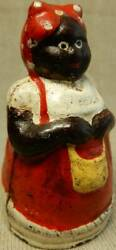 Cast Iron Doll Piggy Bank Maid In Red Apron Height Degree Weight 241g No Savings
