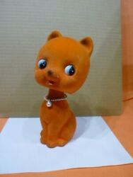 Showa Retro Rocky Swing Doll Cat Piggy Bank Pottery Secondhand