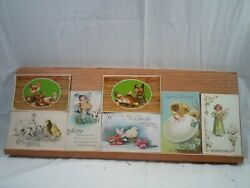 19 Antique Easter Post Cards, Including A Leather Easter Post Care  2