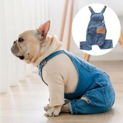 French Bulldog Clothes for Dog Clothes Denim Dog Jumpsuit GBP 15.50