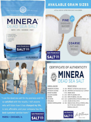 Minera Dead Sea Salt, 19 Lbs. Fine. 100 Pure And 19 Pound Pack Of 1