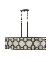 Carter - 6 Light Linear Chandelier In Transitional Style - 37 Inches Wide By